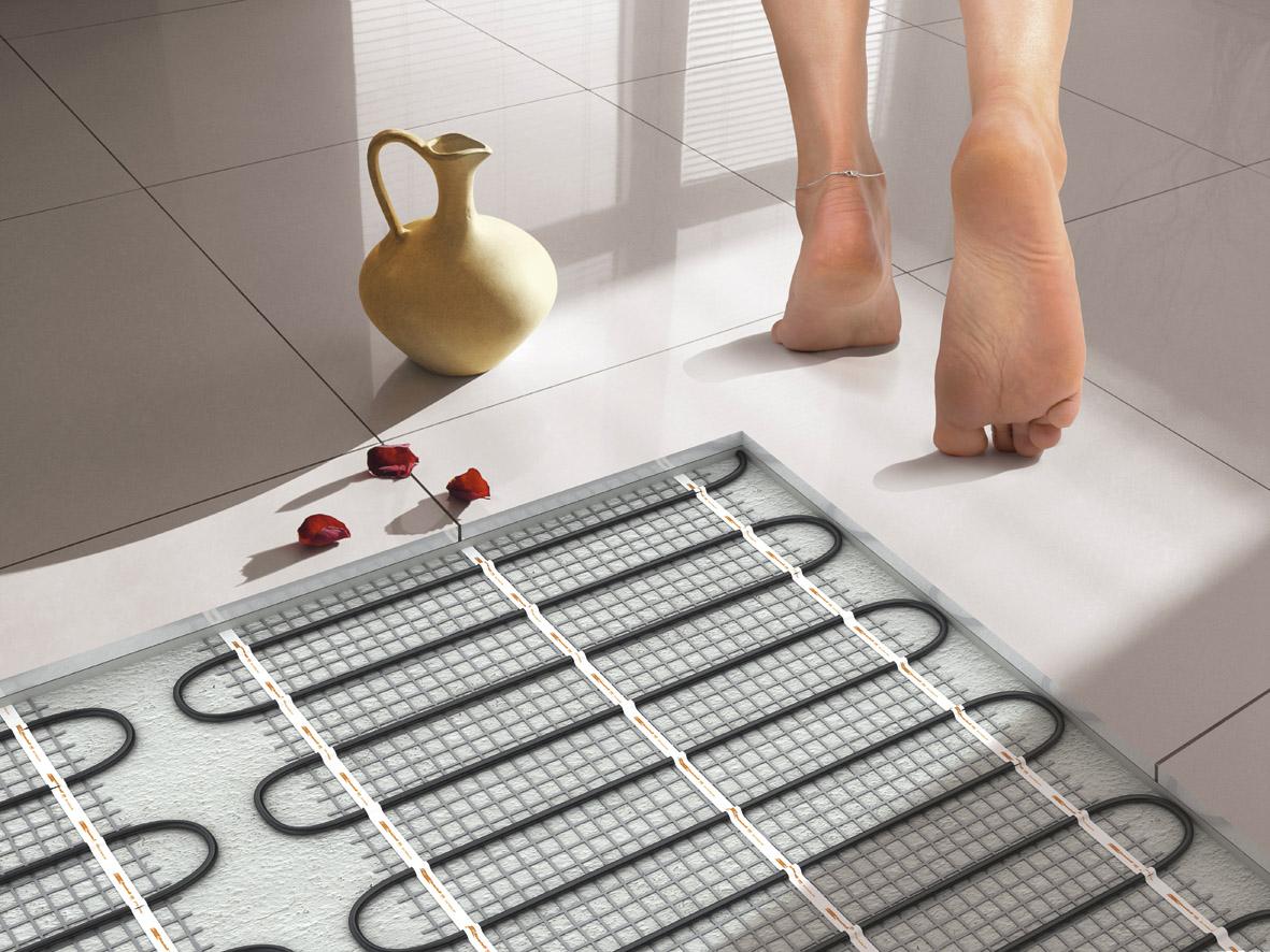 Теплый пол водяной на кухне под плитку