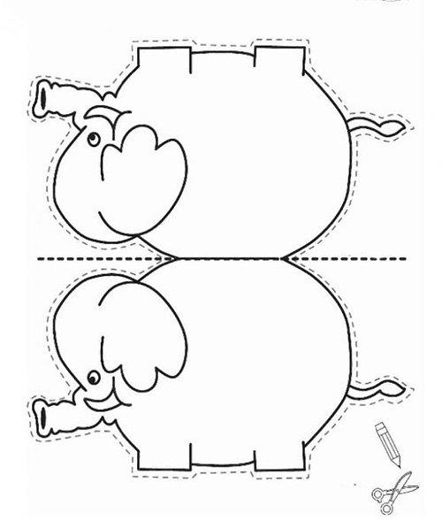 Шаблон слоника