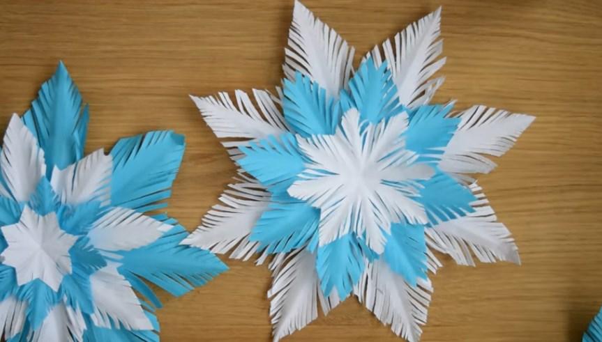 Снежинки своими руками из бумаги объемные из бумаги 64