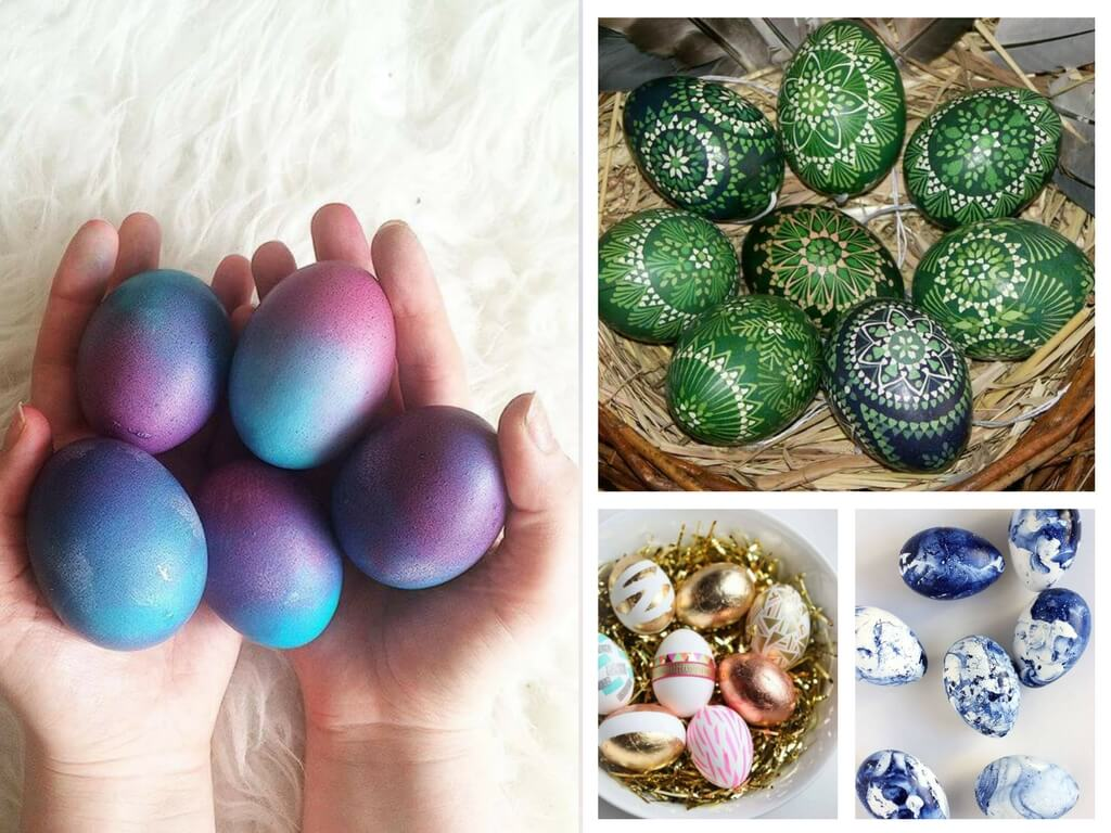 Пасхальные яйца покраска своими руками 8