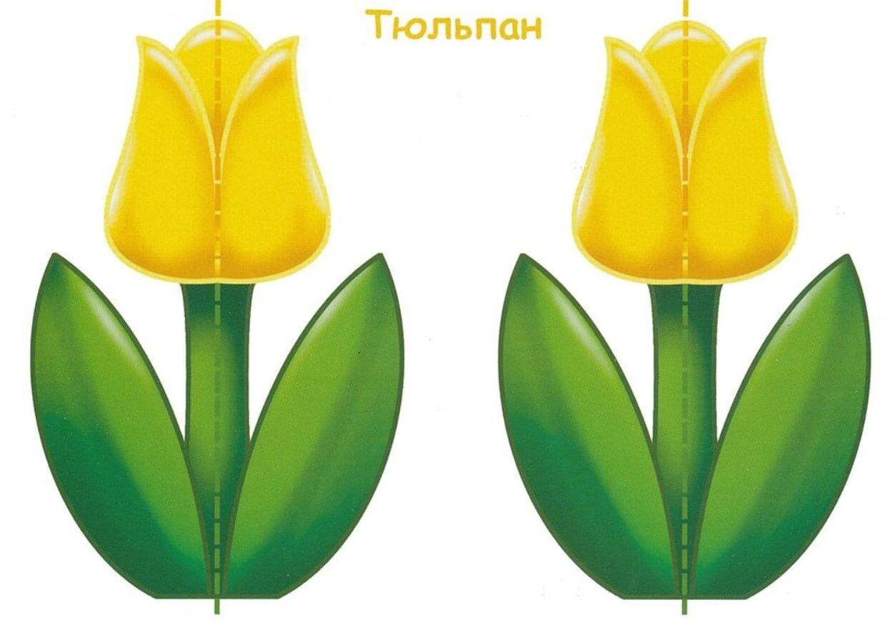 Как сделать тюльпан оригами маме к 8 марта? Схема 34