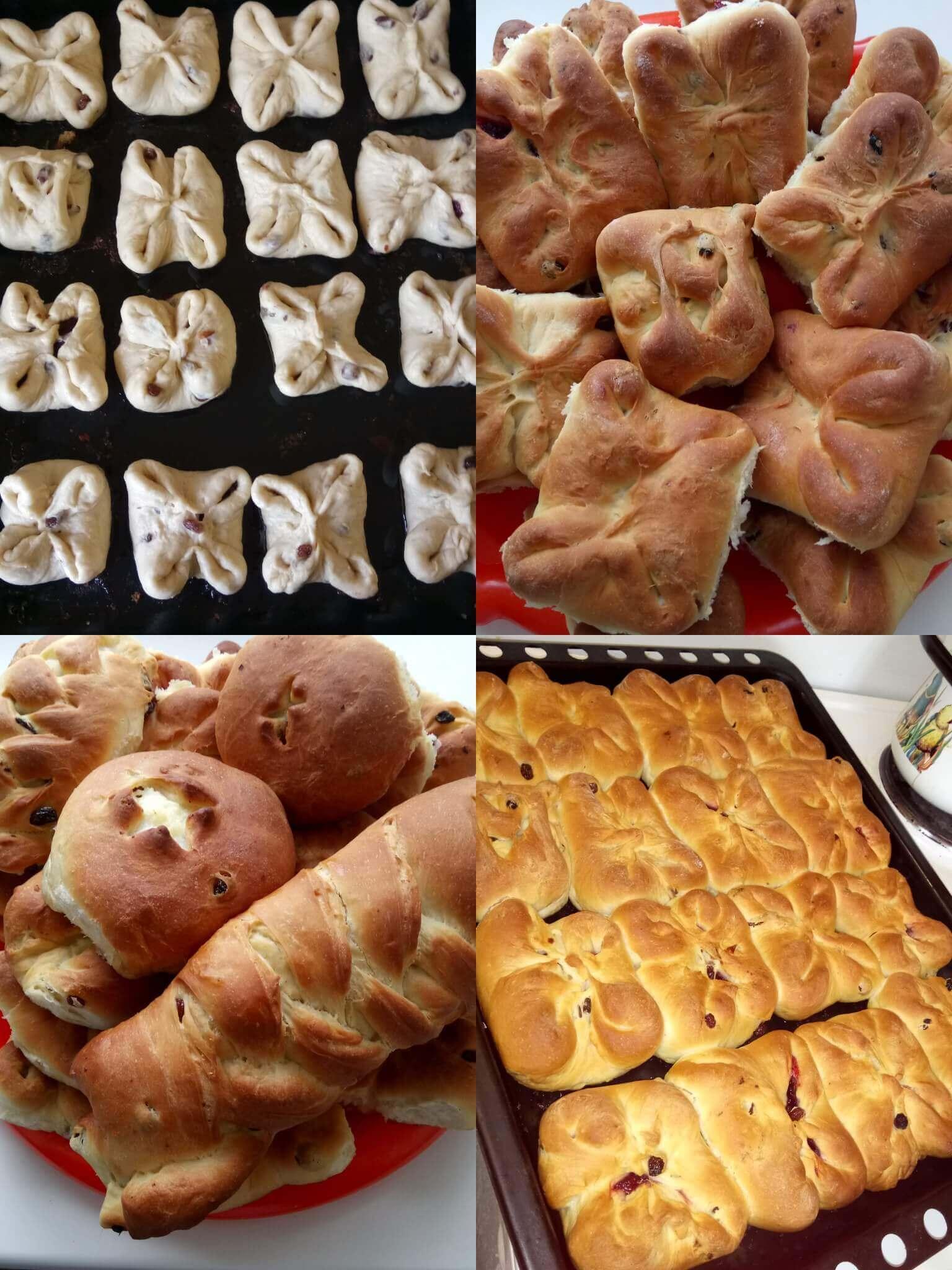 Формы булочек с фото: как сформовать красивые булочки из 74