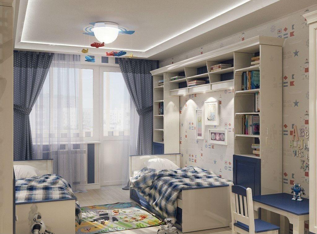 Дизайн детской комнаты для двух мальчиков (42 фото): особенн.