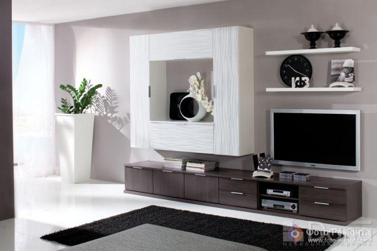 30 фото стенок в гостиную в современном и классическом стилях