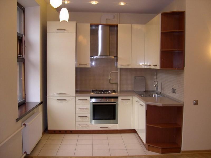 Дизайн угловой кухни 7 кв.м. в классическом стиле (5 фото)