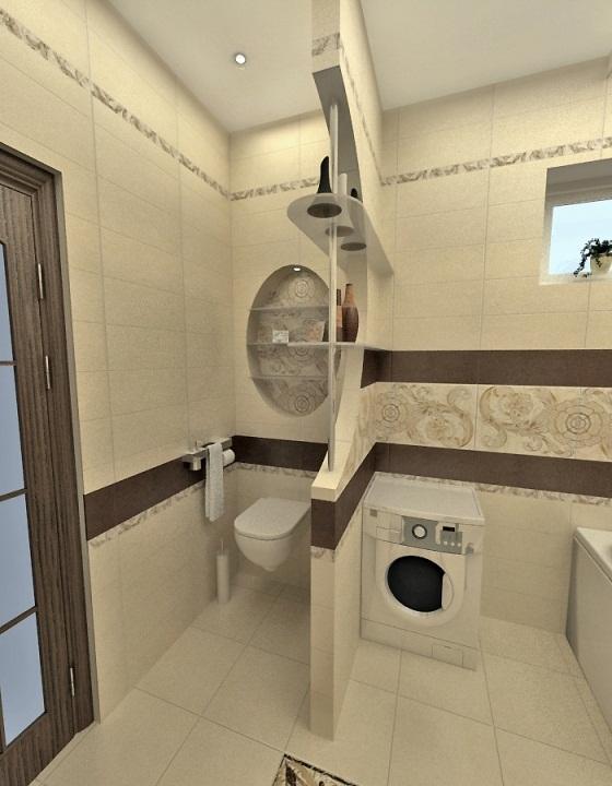 Перегородка между туалетом и ванной