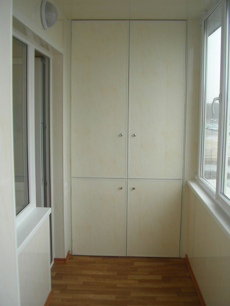 как красиво сделать шкаф на балкон лоджию своими руками
