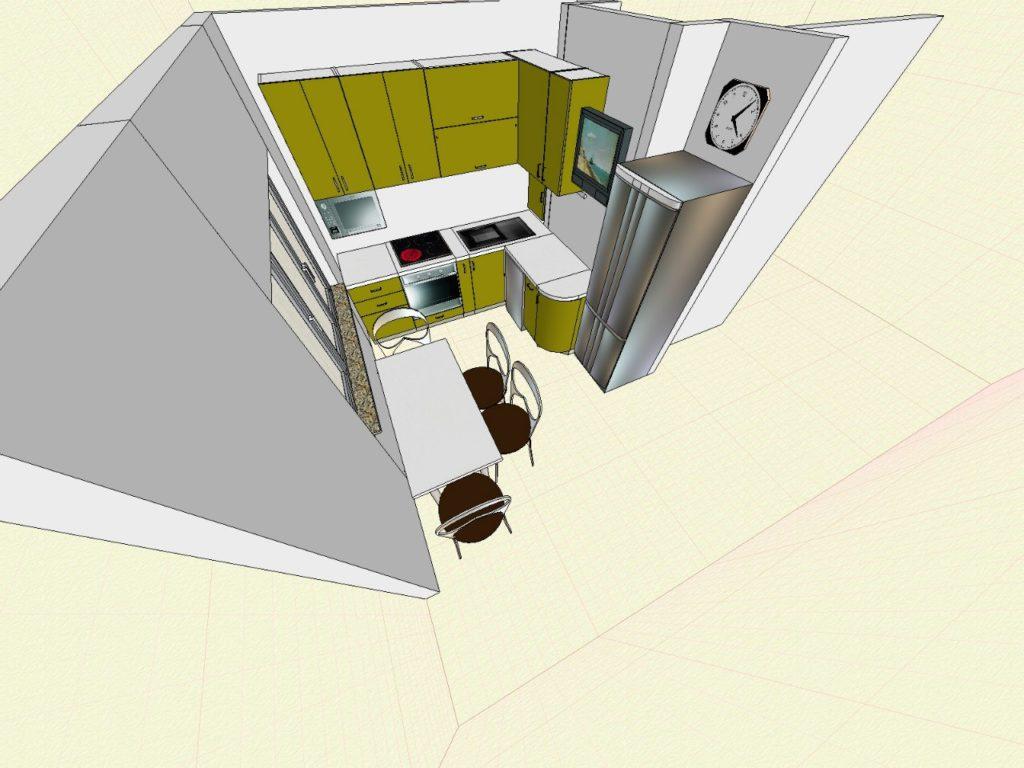3Д модель углового гарнитура