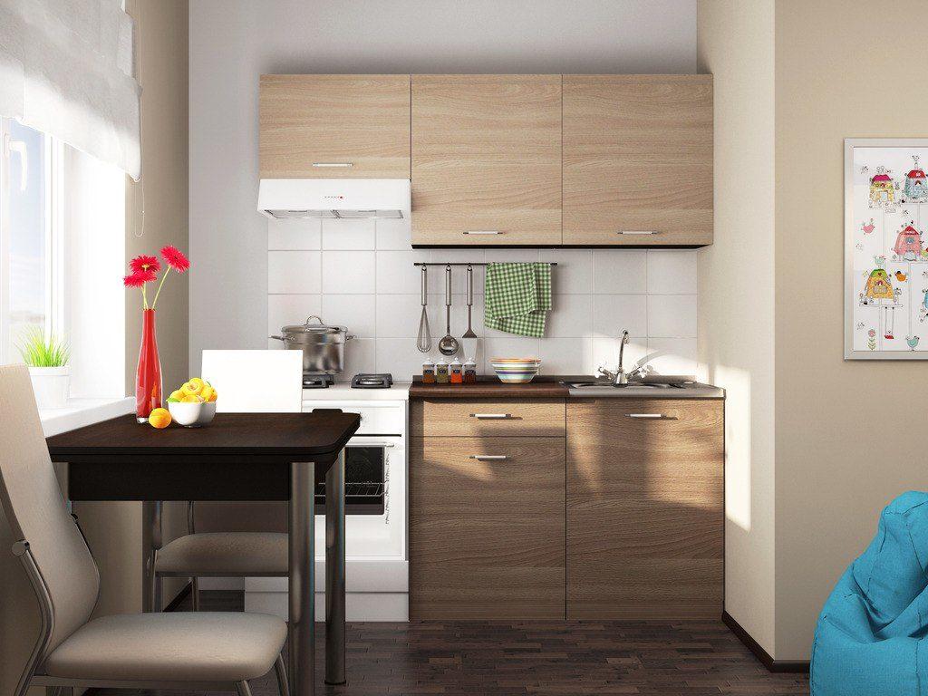 Размещение прямой кухоньки