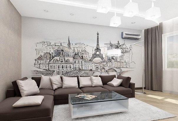 Спокойный дизайн с городской панорамой на заднем фоне