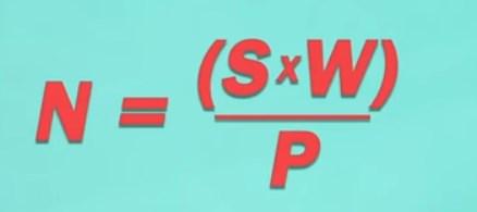 Формула расчета количества светильников