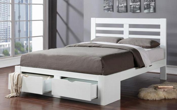 двуспальная кровать с подъемным механизмом и с ящиками для хранения