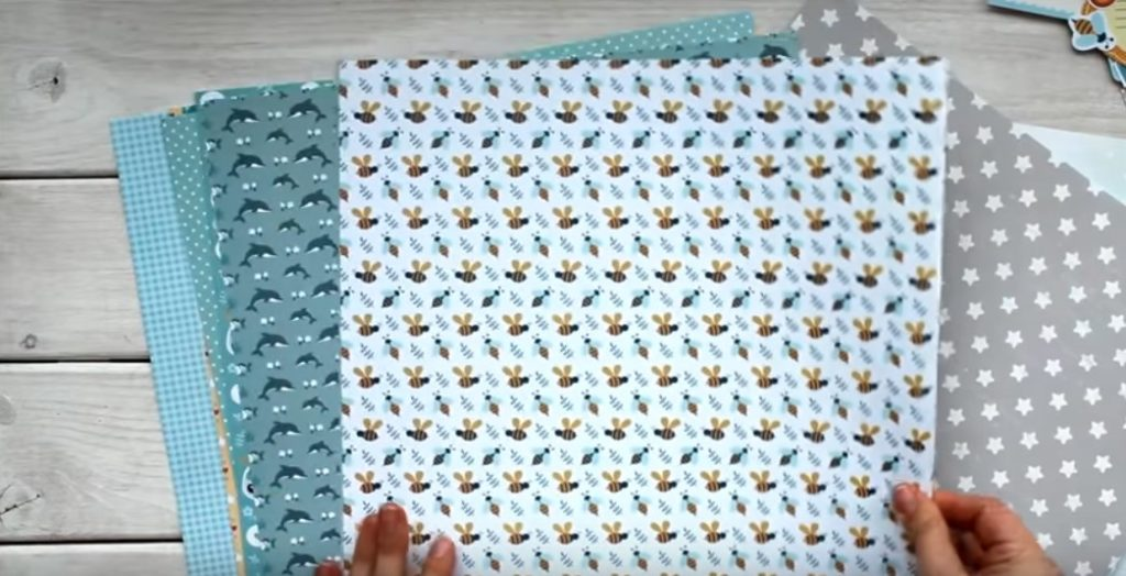 Набор бумаги для скрапбукинга