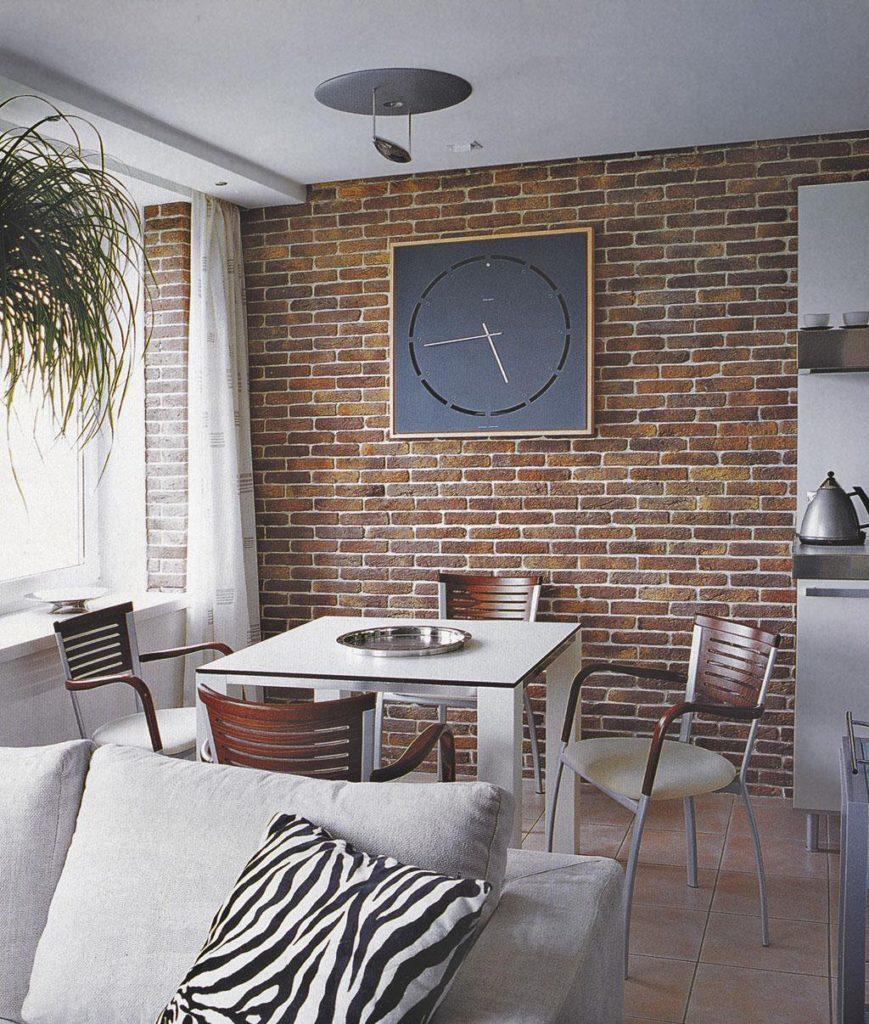 Отделка стены в кухне