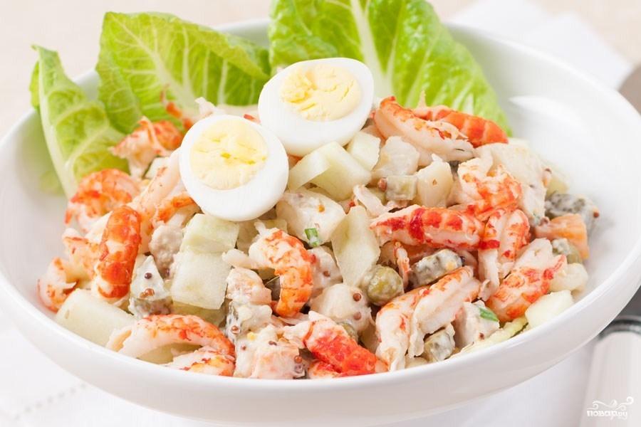 Красивая подача салата