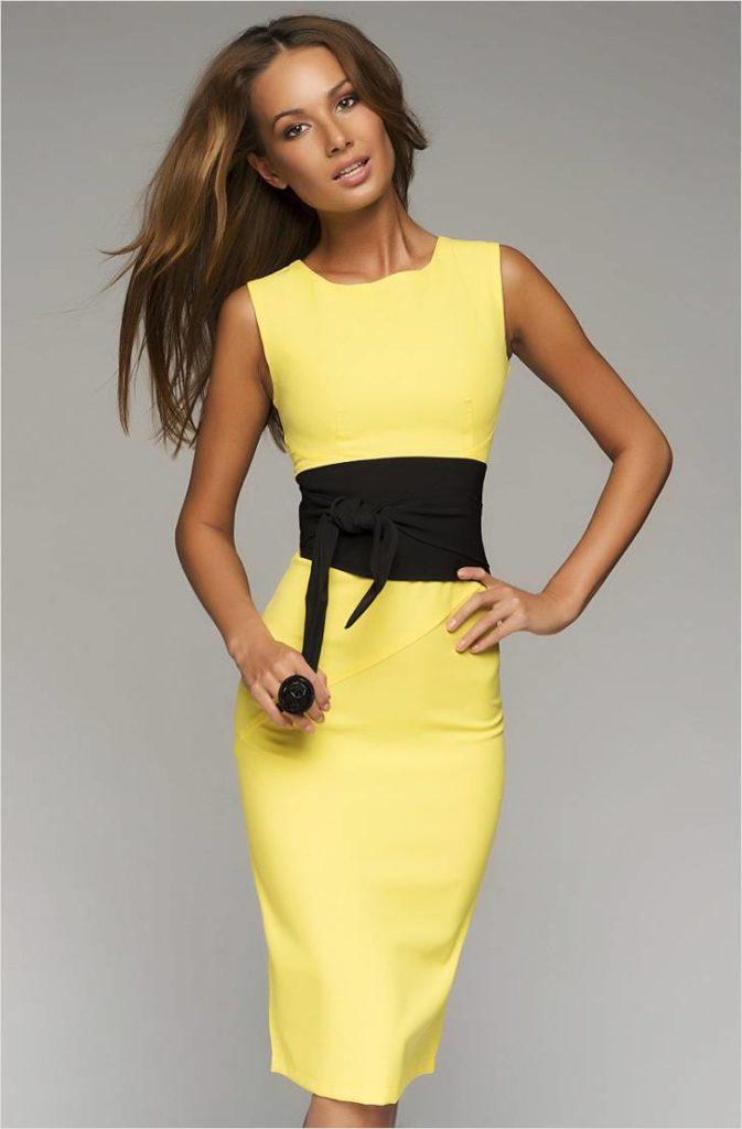 Желтое платье купить новый год