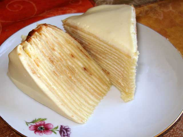 Блинный торт - рецепт пошаговый с фото