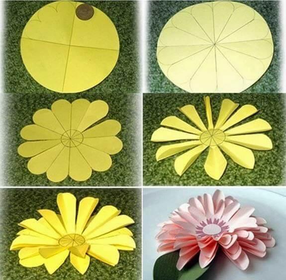 Цветы из бумаги для оформления шаблоны