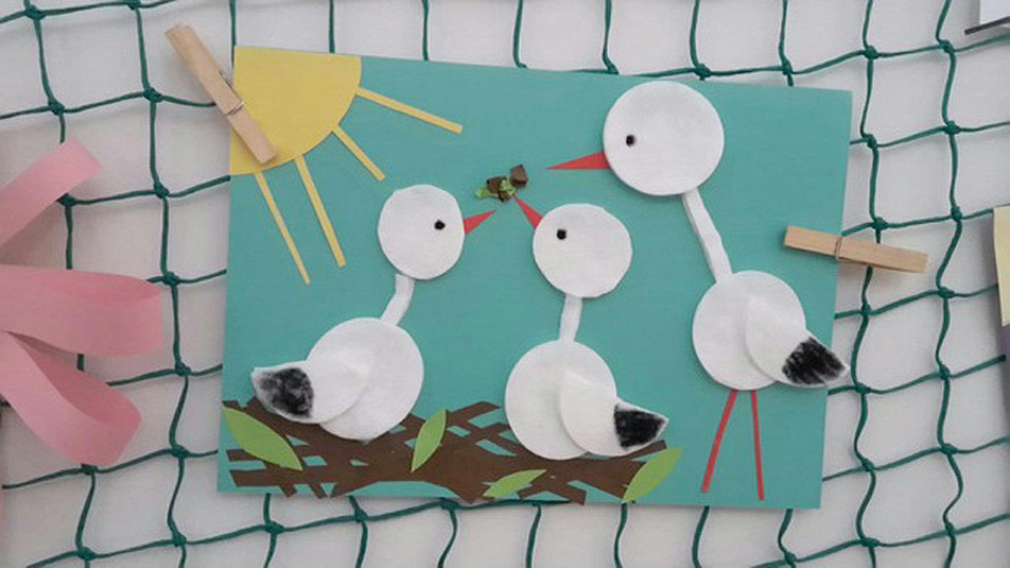 6af25dd3711cac50e33bb6bcdfc25e6f385fd136 Поделки из ватных дисков для детей, цветы из бумаги, ватных палочек и дисков своими руками пошагово