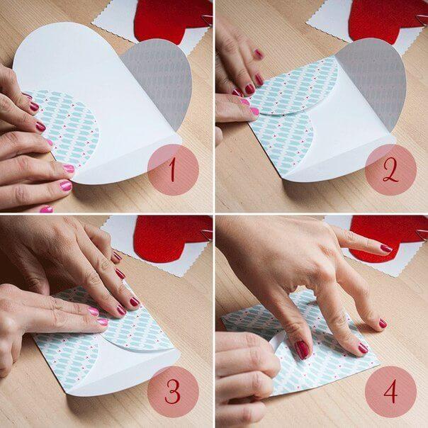 Как сделать маленькую открытку из бумаги