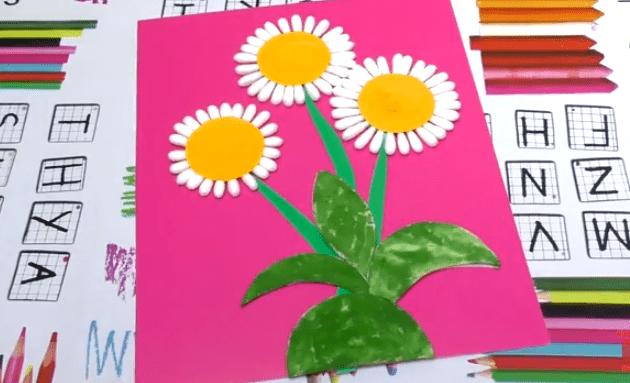 podelky_iz_vaty99 Поделки из ватных дисков для детей, цветы из бумаги, ватных палочек и дисков своими руками пошагово