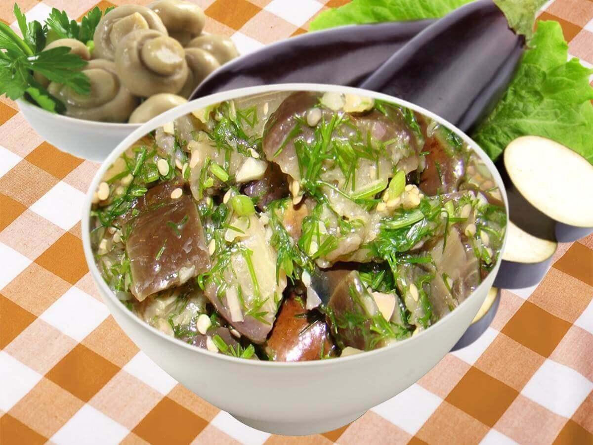 Салат из синеньких как грибы