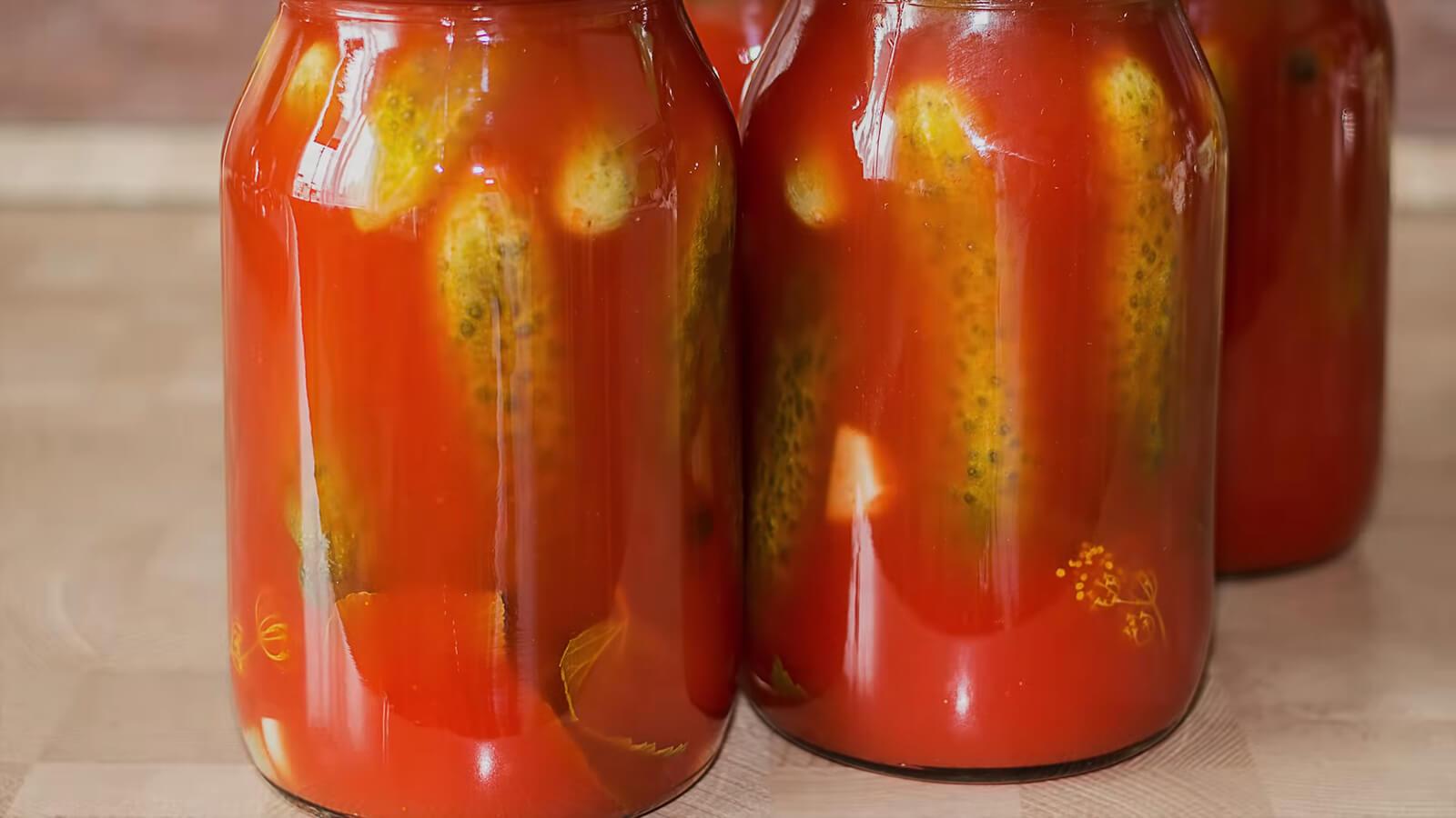 Огурцы в томате на зиму – обалденный рецепт рекомендации