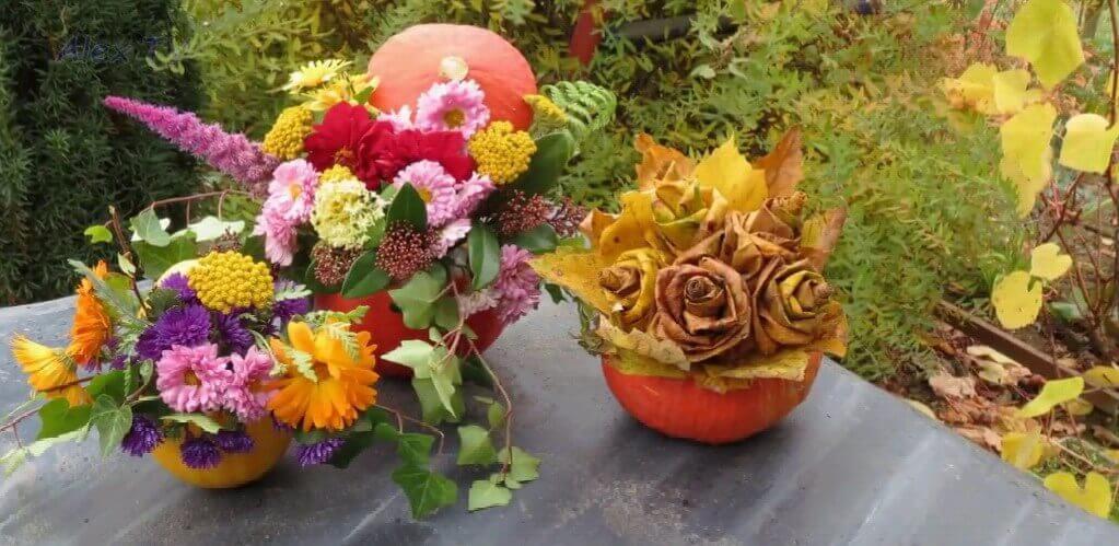 osennie-bukety-svoimi-rukamy Поделки своими рукам на тему осень в садик из природного материала
