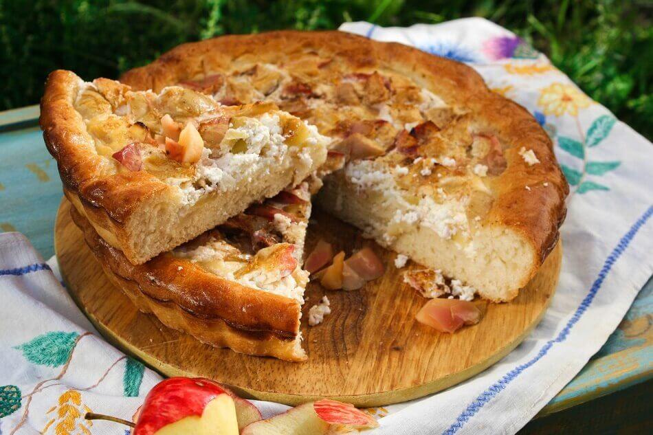 Самый вкусный творожный пирог с яблоками — 7 быстрых рецептов!