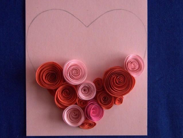 Открытки своими руками с розами из бумаги