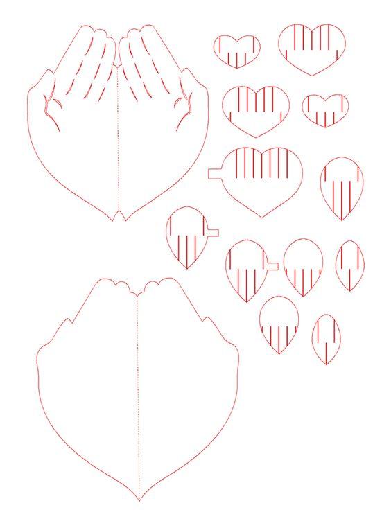 Для админа, объемные сердечки для открытки