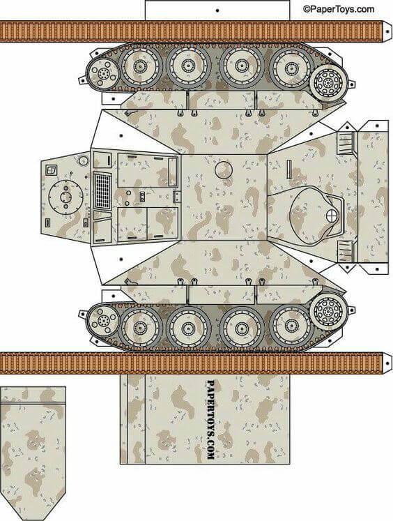 Картинки из бумаги танки, рождения