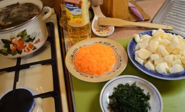 Грибной суп из подосиновиков и подберезовиков
