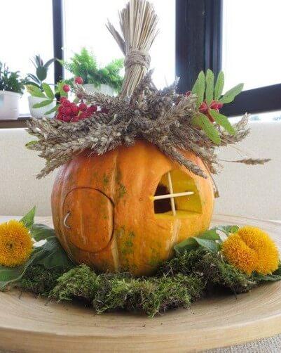 domm4 Осенние поделки из тыквы своими руками: 12 красивых и оригинальных поделок из тыквы для детского сада и школы
