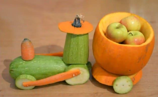 paravoz Осенние поделки из тыквы своими руками: 12 красивых и оригинальных поделок из тыквы для детского сада и школы