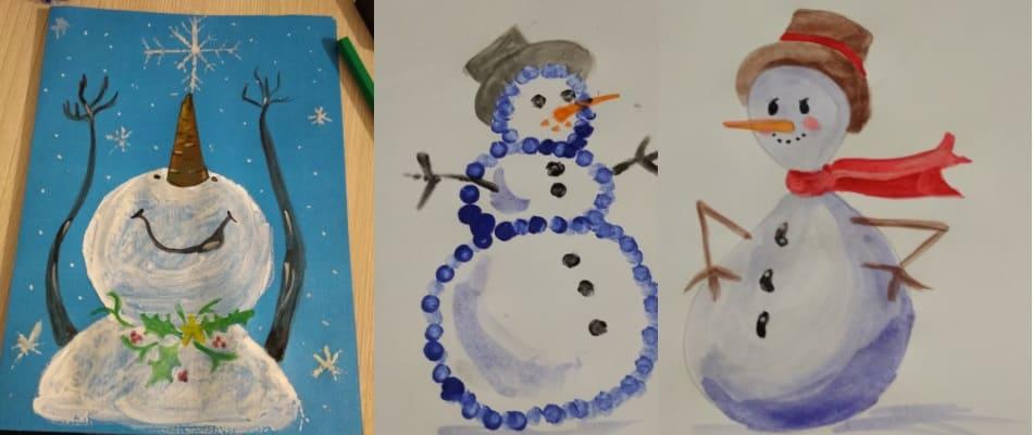 Как нарисовать снеговика 2021 года. Более 70 идей рисунков