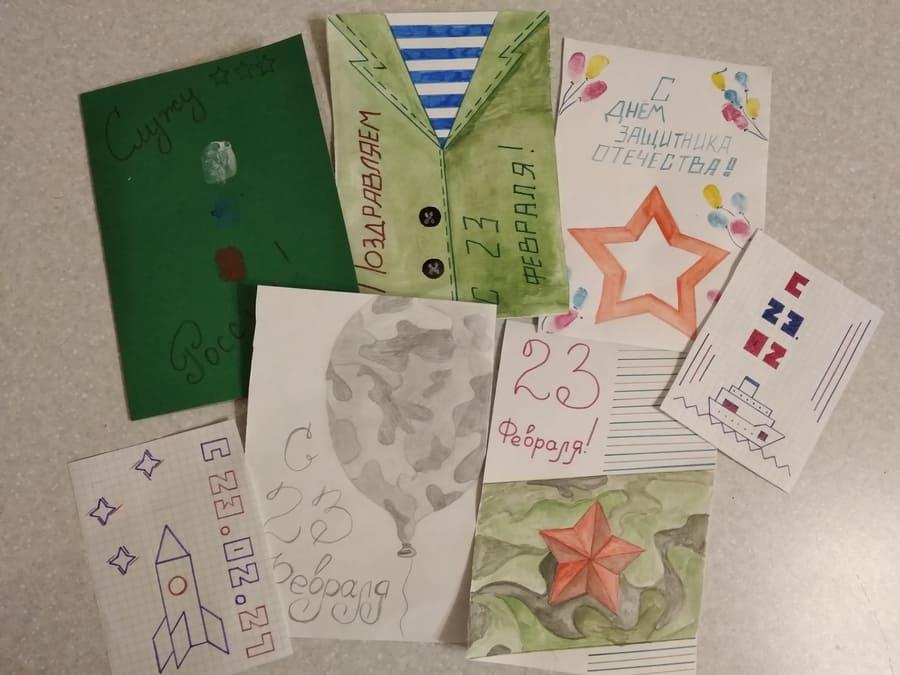 Как нарисовать открытку на 23 февраля на День Защитника Отечества