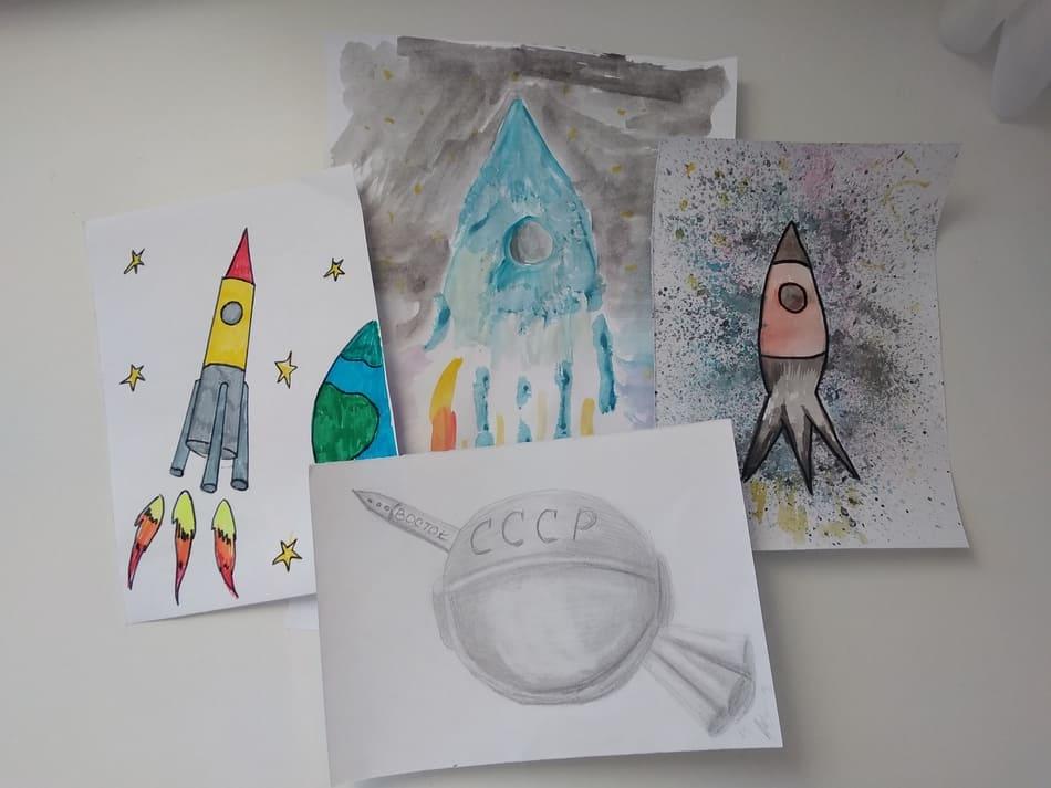 Рисунки на День Космонавтики 12 апреля: более 95 идей