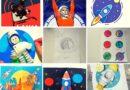 Открытки на День Космонавтики 12 апреля
